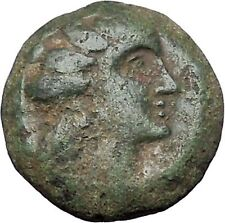 Arados in Phoenicia 300BC Ancient Greek Coin Ship Galley Tyche Fortuna i47589