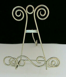 Silver Metal Easel Picture Stand