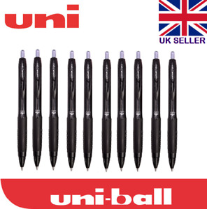 Uni-ball Signo 307 0.7mm Tip Gel Ink Rollerball Black Pen 3/5/10 or Refills