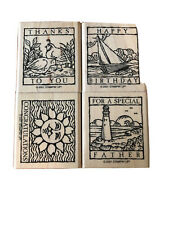 Stampin Up Wonderful Woodcuts Stamps Birthday Congrats Thank You  2001