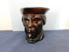 Vintage Avon Patriot Head Brown Glass Candle Holder