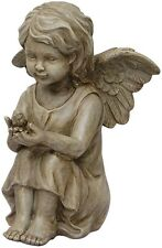 Cherub Angel 11.5-in Garden Statue Figurine Sculpture Yard Patio Deck Figurine