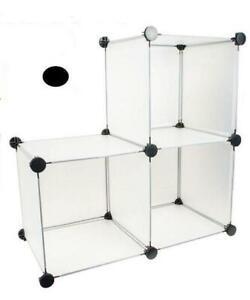 "NEW Home Essentials 3 Pack of 12"" x 12"" x 12"" Storage Cube Black"