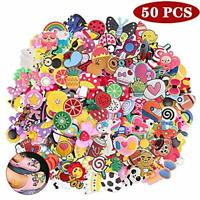Different 50 Pcs PVC Shoe Charms for Shoe and Jibbitz Bands Bracelet Wristband