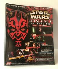 Star Wars Widevision Episode 1 Topps Trading Cards & Binder Complete Set Minty