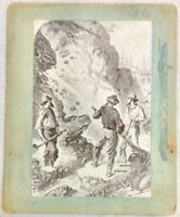 VERY RARE 1860's Gold Rush Hydraulic Mining ALBUMEN PHOTOGRAPH Picture