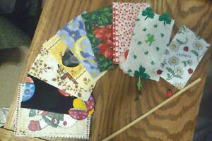 1/12 scale Dollhouse Miniature Holiday Flag Kit Halloween Xmas Valentine Fall