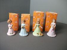 4 Enesco Figurines - Growing Up Girls Birthday Years. 5, 6, 7 & 8 - 4 aa kge