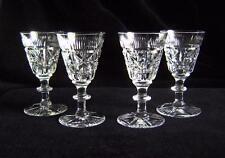 Set Four Webb Corbett Lliquor Glasses: Fine Cut Lead Crystal - Complex Pattern