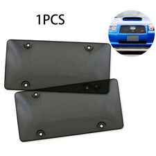 Smoked Clear License Plate Cover Frame Shield Tinted Bubbled Flat RF