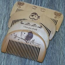 Natural  Wooden Comb No-Static /Beard/ Pocket/Travel/Massage/ Baby/ Small