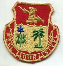 Original Us Army 804th Artillery Bn patch cut edge cheese cloth back