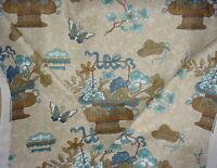 12-1/4Y GP & J Baker BP10313 Castleton Stone Indigo Drapery Upholstery Fabric
