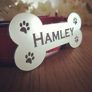 Pet Name Plaque Personalised House Kennel Dog Cat Adhesive Bone Sign Plaque