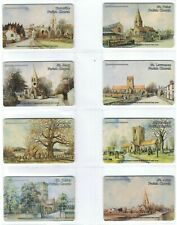Jersey 1991 Parish Churches set of 12 Mint JER16-JER27 Matched control numbers.