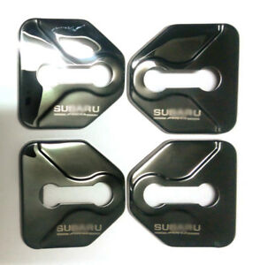Black SU Door Lock Cover Decoration protection Prevent Rust 4pcs Stainless steel