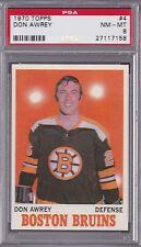 1970 Topps NHL #4 DON AWREY PSA 8 NM/MT - Boston BRUINS  CENTERED TOUGH!