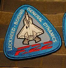 "Lockheed Boeing F-22 Raptor 5th-Generation Fighter burdock 4"" Factory Insignia"
