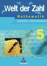 Welt der Zahl - Ausgabe 2005 für das 5. und 6. Schuljahr in Berlin und Brandenbu