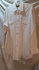 SHEPPLERS White Western shirt , white pearl snaps sz 16 1/2/ 33