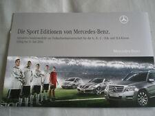 Mercedes Sport Edition brochure Apr 2010 German text