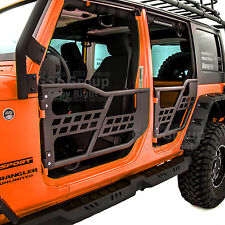 07-17 Jeep Wrangler JK Rock Crawler Body Armor Front+Rear Tubular 4 Door Set