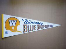 1970'S WINNIPEG BLUE BOMBERS VINTAGE CFL FOOTBALL PENNANT FLAG SHARP!!