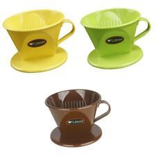 3pcs Cône De Filtre à Café Réutilisable Plastique Vaisselle Goutteur Durable
