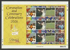 BHUTAN 2008 CRICKET Coronation & Centenary Celebrations Sheet of 12v MNH #006175