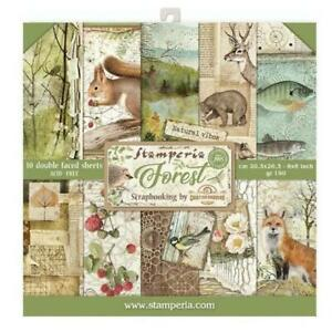 """Forest Stamperia 8"""" x 8"""" Scrapbook Papers 2020 Release"""