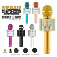 Wireless Bluetooth Karaoke Microphone Speaker Handheld Mic USB Player KTV Q9 AU