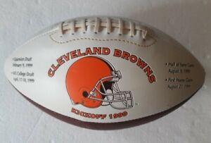 Cleveland Browns Football Kickoff 1999 Autograph Ball Expansion Draft No Tickets