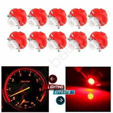 10 Pcs  B8.4D 5050 SMD 1-LED Dashboard Light Signal Bulb Red for Car Internal