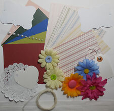 "Card Making Kit Paper Pack Plus Coordinating Embellishments ""Summer Daisies"""