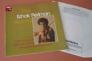 SEOM 22 The Itzhak Perlman Record Bach Paganini Sarasota Tartini Novacek Joplin