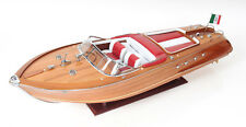 "Italian Riva Aquarama Speed Boat Runabout 35"" Built Assembled Wooden Model Excl"