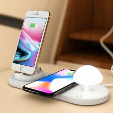 NEW Mushroom Lamp Qi Wireless Charger Dock for iPhone Micro Type C Android Phone