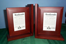 NEW SUDBERRY HOUSE WOODEN BOOKENDS FOR CROSS STITCH MAHOGANY FINISH NEEDLEWORK