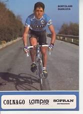 CYCLISME carte BORTOLAMI CIANCULA équipe LAMPRE 1991 format 12 x 16,5 cm