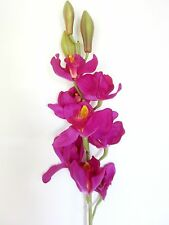 Artificial Silk Latex Cymbidium Orchids 82cm - Purple
