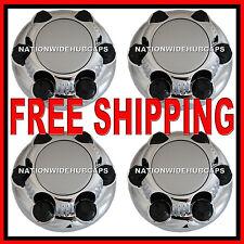 """SET OF 4 CHEVY GMC 6 Lug 16"""" & 17"""" CHROME Wheel Rim Center Hub Caps Nut Covers S"""