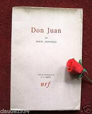 MARCEL JOUHANDEAU :  DON JUAN  EDITION ORIGINALE 1948
