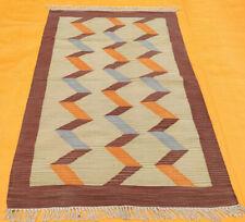 Geometric Pattern Handmade Modern 4x6 Moroccan Oriental Area Rug Cotton Carpet