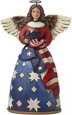 Enesco Jim Shore Heartwood Creek Patriotic Angel With Flag 4044664