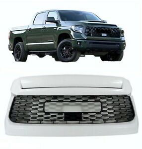 Fit 19 20 Toyota Tundra TRD Front Bumper Grille Grill And Upper Hood Bulge WHITE