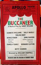 1956 POSTER Sandy Wilson musical The Buccaneer Kenneth Williams Apollo Theatre