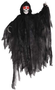 Halloween Figur Bewegung + LED Licht Geist Tod Skelett Deko 356