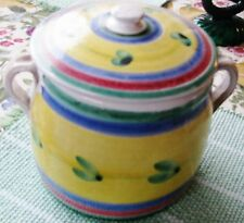 VINTAGE CALECA POT,W.LID2,HANDLES,VESSEL,CAROUSEL,HAND italy SICILIAN