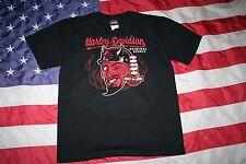 "mens HARLEY DAVIDSON ""Original Rebels"" Black Tee Shirt Size Large: biker  #4238"