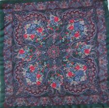 Superbe châle en  100 % laine TBEG  vintage scarf 110 x 112 cm